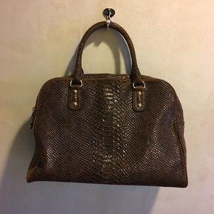 Michael Kors leather croc embossed satchel